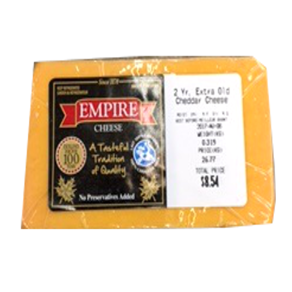EMPIRE 2YEAR CHEDDAR 12OZ-price by weight