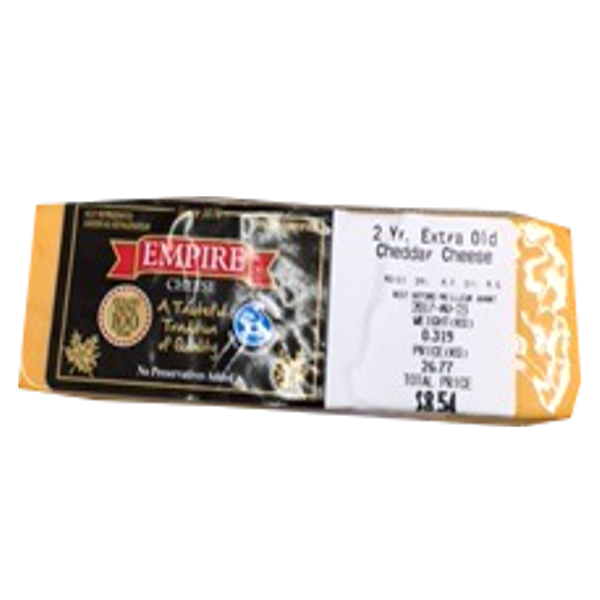 EMPIRE 2 YEAR EX OLD CHEDDAR 8OZ-price by weight