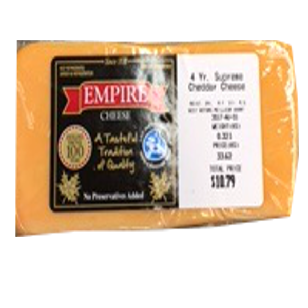 EMPIRE CHEDDAR 4 YEAR 12OZ-price by weight