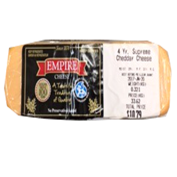 EMPIRE4 YEAR CHEDDAR 8OZ-price by weight