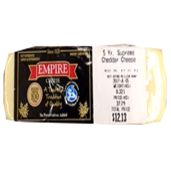 EMPIRE WHITE CHEDDAR 8OZ-price by weight