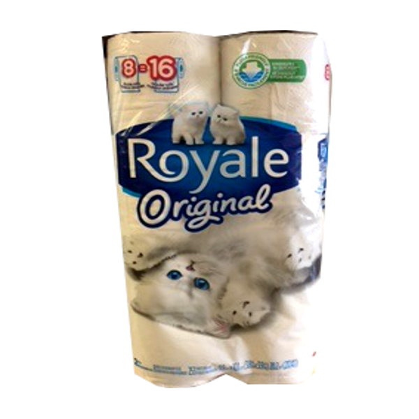 ROYALE BATHROOM TISSUE 8 ROLL DOUBLE