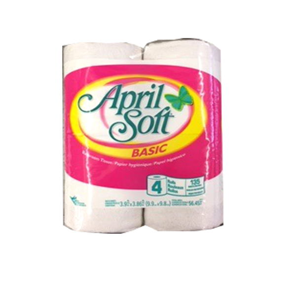 APRIL SOFT BATHROOM TISSUE 4 ROLL