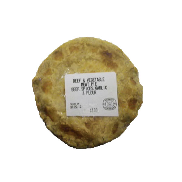 Beef & Vegetable Meat Pie