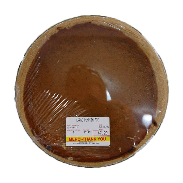 Large Pumpkin Pie