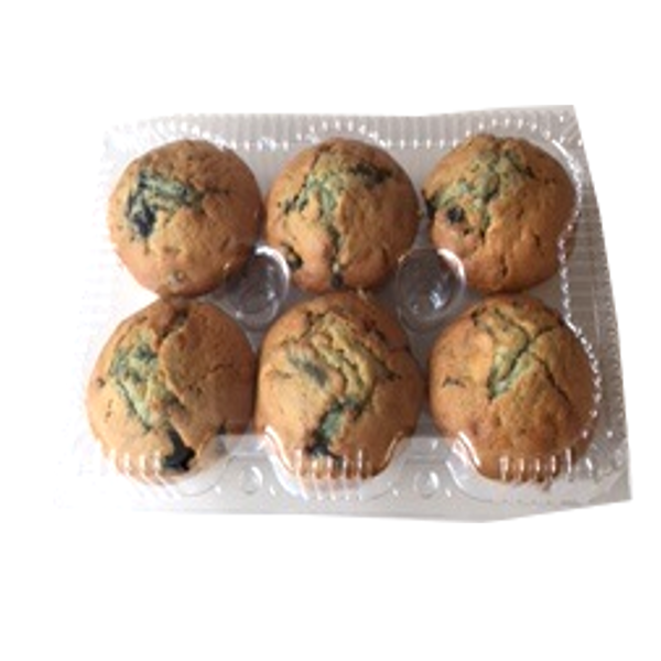 BAKERY BLUEBERRY MUFFINS 6 PACK
