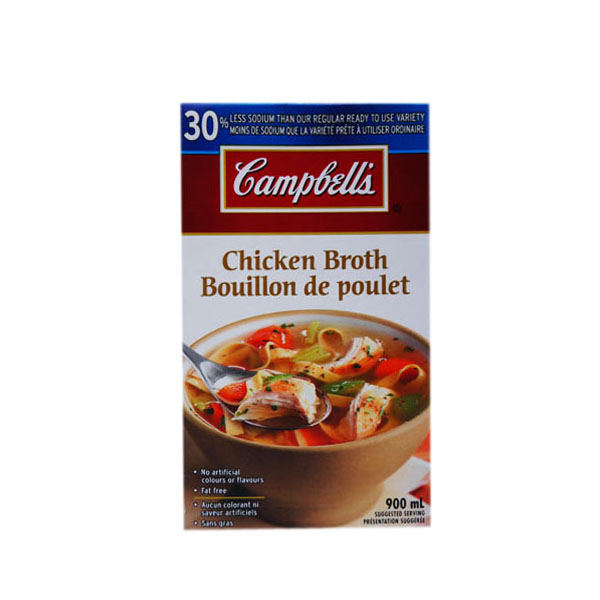 Campbell's Chicken Broth - Less Sodium