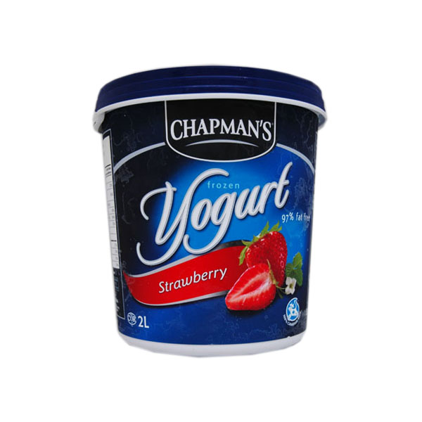 Chapmans Strawberry Frozen Yogourt