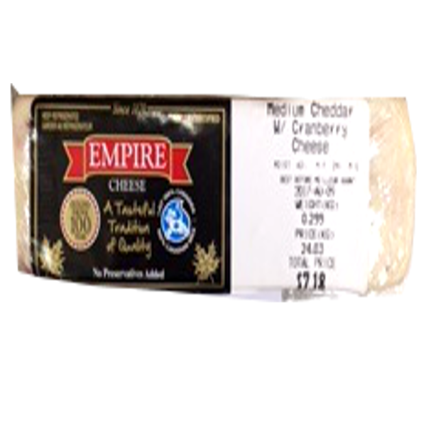 EMPIRE CRANBERRY CHEESE 8OZ-price by weight