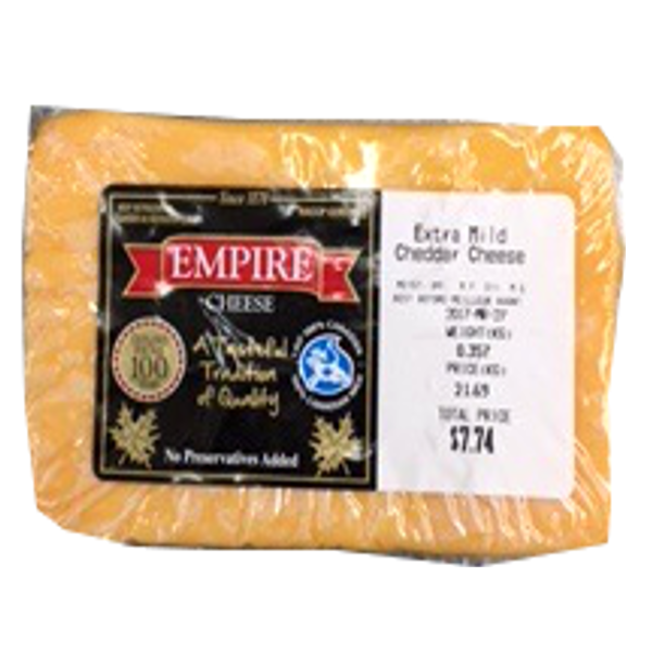 EMPIRE EX MILD CHEDDAR 12OZ-price by weight