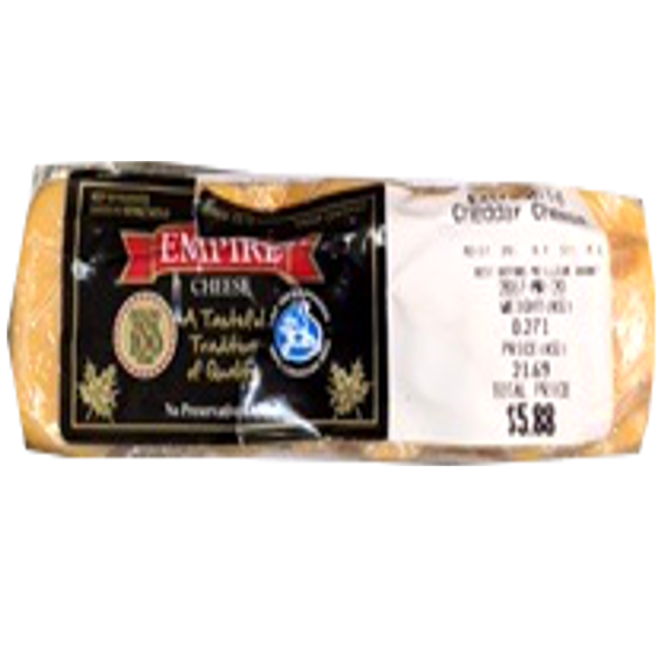EMPIRE EX OLD CHEDDAR 8OZ-price by weight