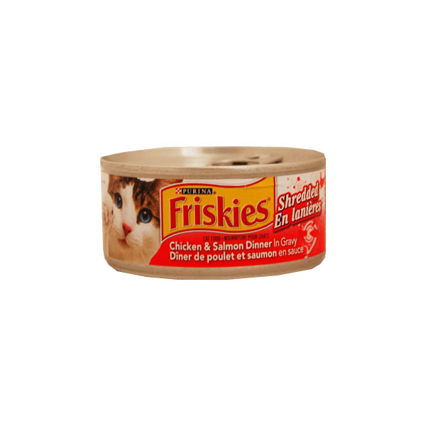Purina Friskies Cat Food - Shredded Chicken & Salmon Dinner in Gravy