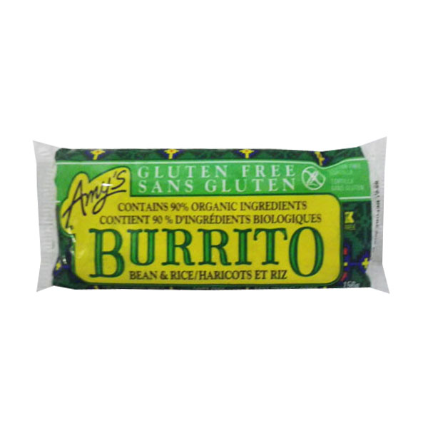 Gluten Free Burrito - Bean and Rice