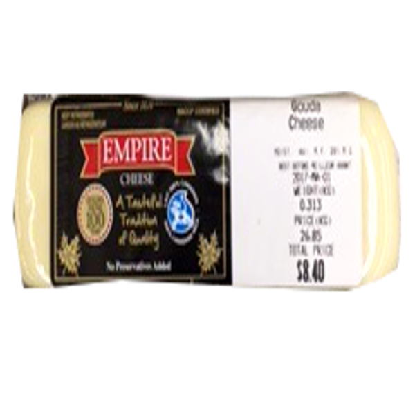 EMPIRE GOUDA 8OZ-price by weight