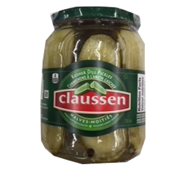 CLAUSSEN DILL  PICKLES HALVES