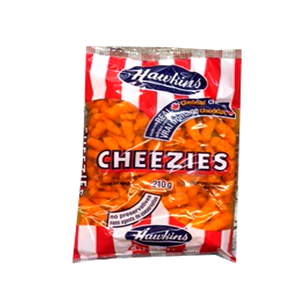 HAWKINS CHEEZIES 210G