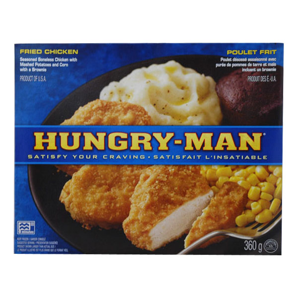 Frozen Hungry Man Fried Chicken Dinner