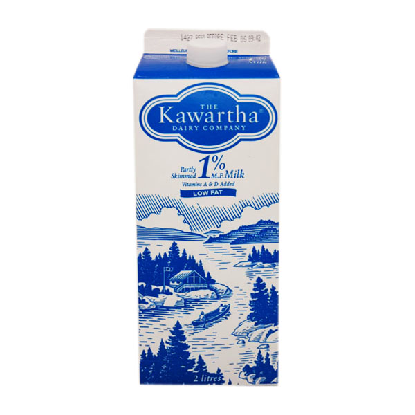 Kawartha Dairy 1% Milk - 2L