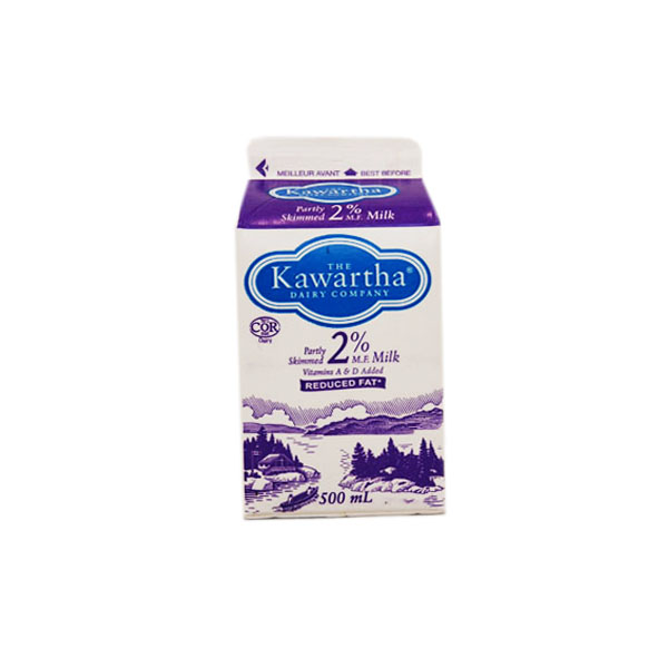 Kawartha Dairy 2% Milk - 500 mL