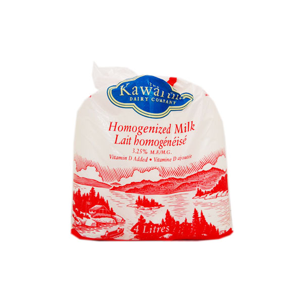 Kawartha Homogenized Milk - 4 L Bags