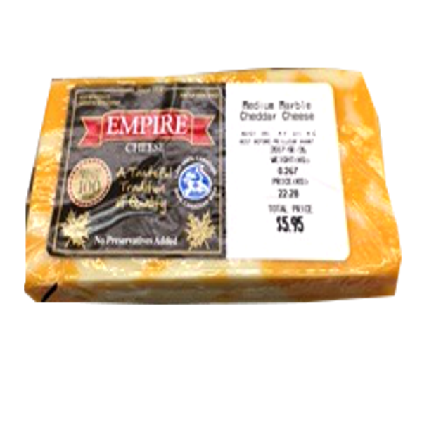 EMPIRE CHEESE MARBLE MEDIUM 12 OZ PRICE BY WEIGHT