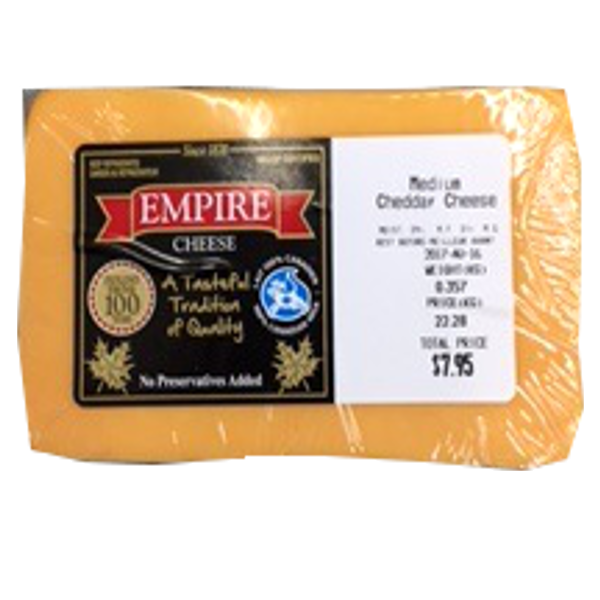 EMPIRE MEDIUM CHEDDAR 12OZ-price by weight