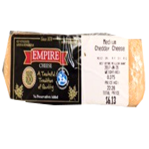EMPIRE MEDIUM CHEDDAR 8OZ-price by weight