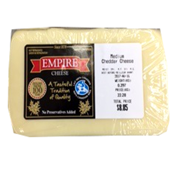 EMPIRE MEDIUM WHITE CHEDDAR 12OZ-price by weight