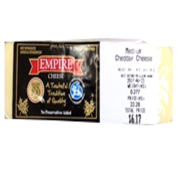 EMPIRE MEDIUM WHITE CHEDDAR 8OZ-price by weight