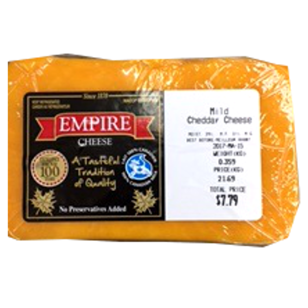 EMPIRE MILD CHEDDAR 12OZ-price by weight