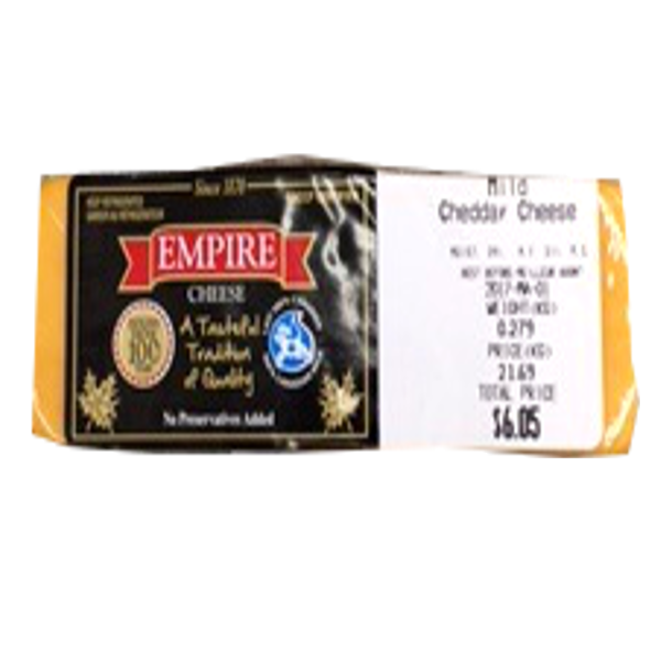 EMPIRE MILD CHEDDAR 8OZ-price by weight