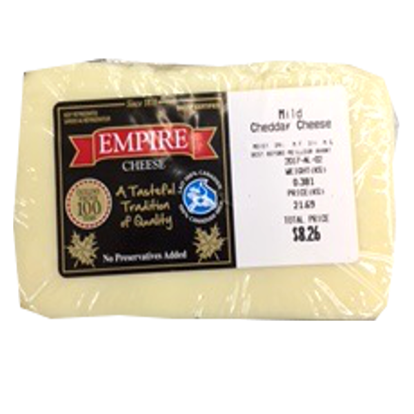 EMPIRE MILD WHITE CHEDDAR12OZ-price by weight