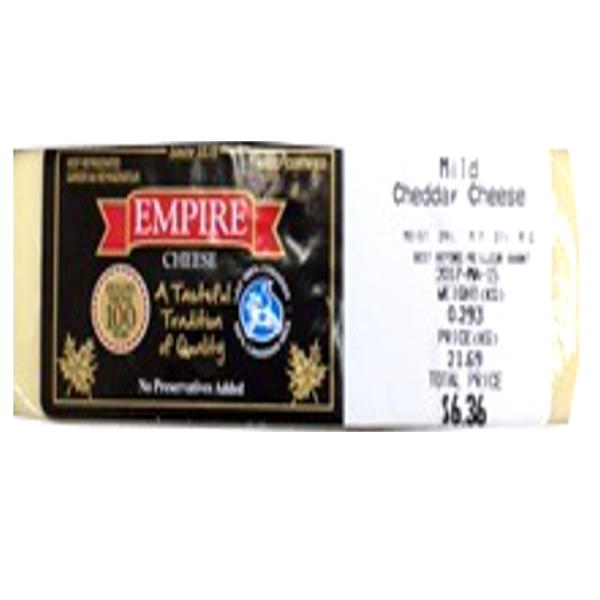 EMPIRE MILD WHITE CHEDDAR8OZ-price by weight