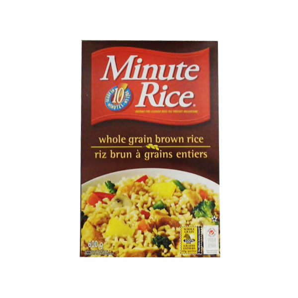 Minute Rice Whole Grain Brown