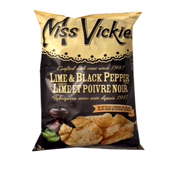 MISS VICKIES LIME AND BLACK PEPPER 220G