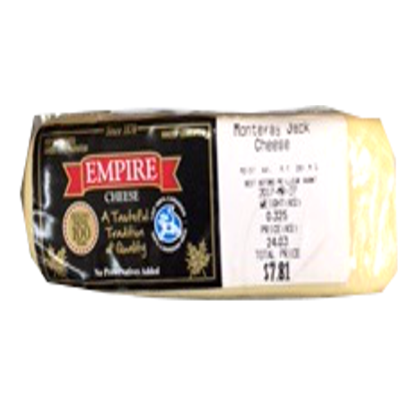 EMPIRE MONTERAY CHEESE 8OZ-price by weight