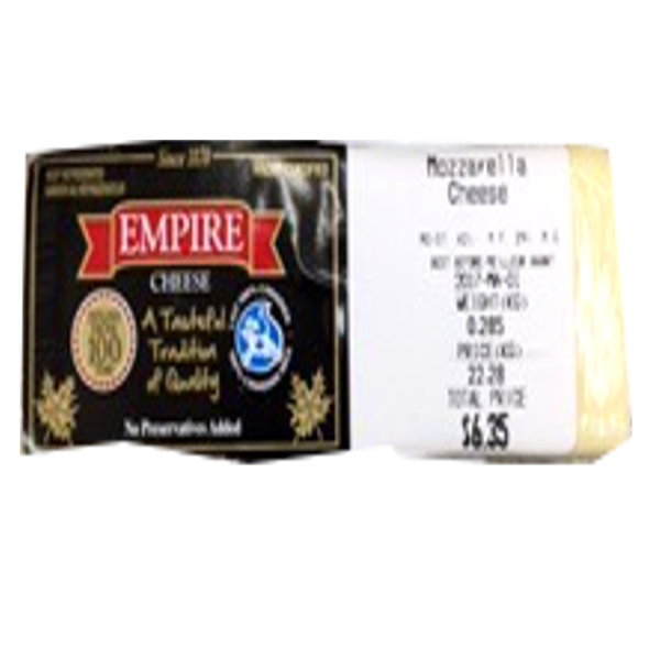 EMPIRE MOZZARELLA 8OZ-price by weight