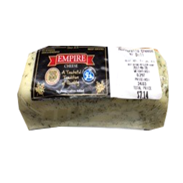 EMPIRE CHEESE MOZZARELLA DILL PRICE BY WEIGHT 8 OZ
