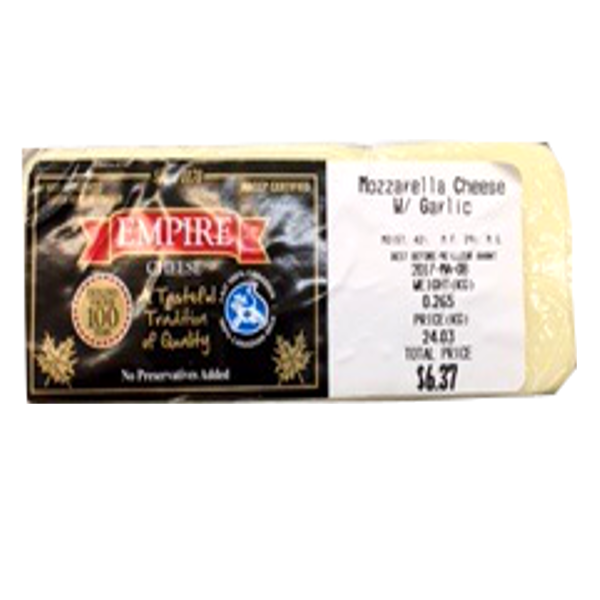 EMPIRE GARLIC MOZZARELLA 8OZ-price by weight