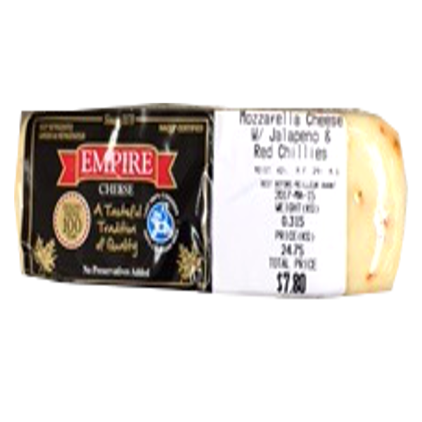 EMPIRE MOZZARELLA JALAPENO RED CHILLI CHEESE 8OZ-price by weight