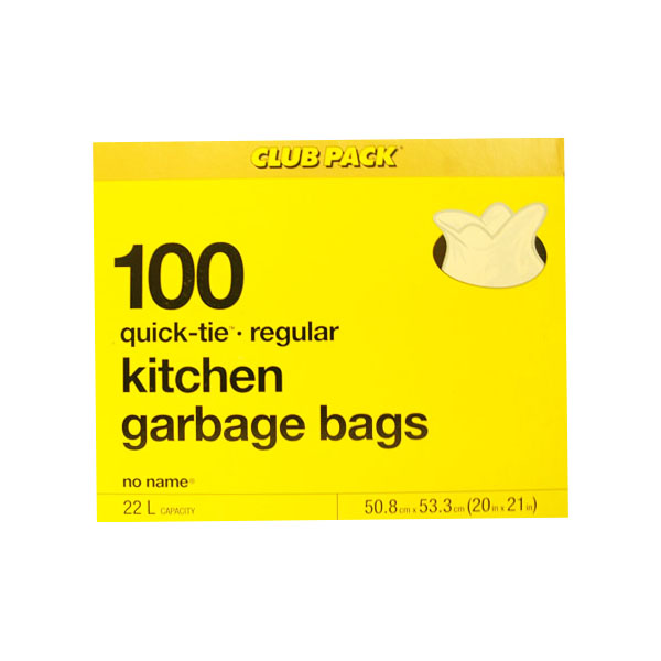 No Name Quick Tie Kitchen Garbage Bags