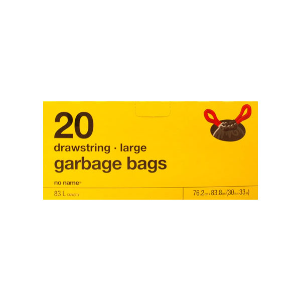 No Name Large Drawstring Garbage Bags