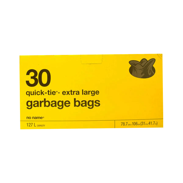 No Name Quick Tie Garbage Bags - Extra Large
