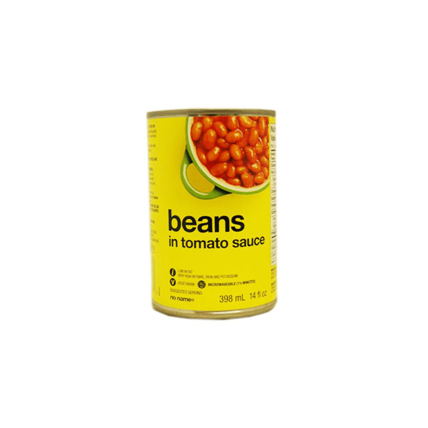 No Name Beans in Tomato Sauce