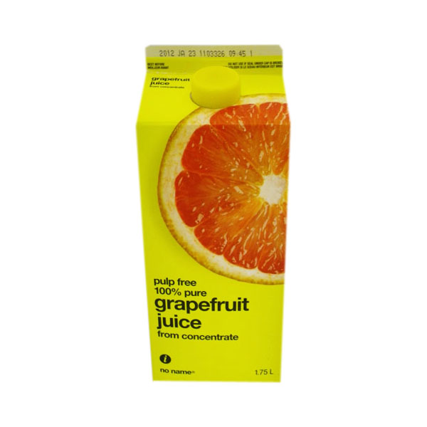No Name No Pulp Grapefruit Juice - 1.75L