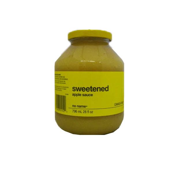 No Name Sweetened Apple Sauce