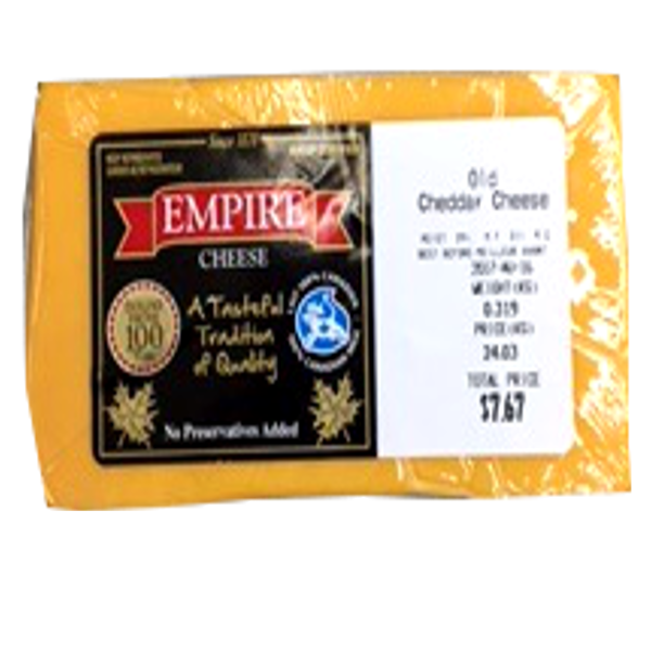 EMPIRE OLD CHEDDAR 12OZ-pricing varies by weight