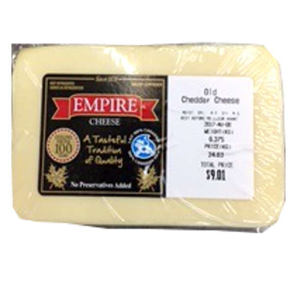 EMPIRE OLD WHITE CHEDDAR 12OZ-price varies by weight