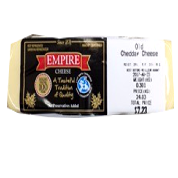 EMPIRE OLD WHITE CHEDDAR 8OZ-pricing varies by weight