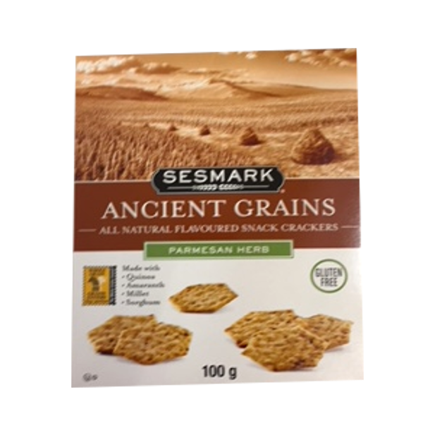 SESMARK ANCIENT GRAINS PARMESAN HERB CRACKERS